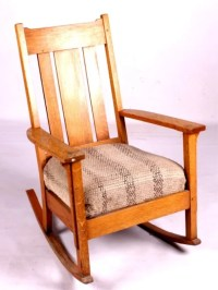 Antique Mission Style Rocking Chair This lot featu : Lot 24