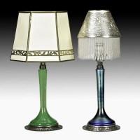 51: ROYCROFT; STEUBEN; TIFFANY Two candlestick lamps : Lot 51