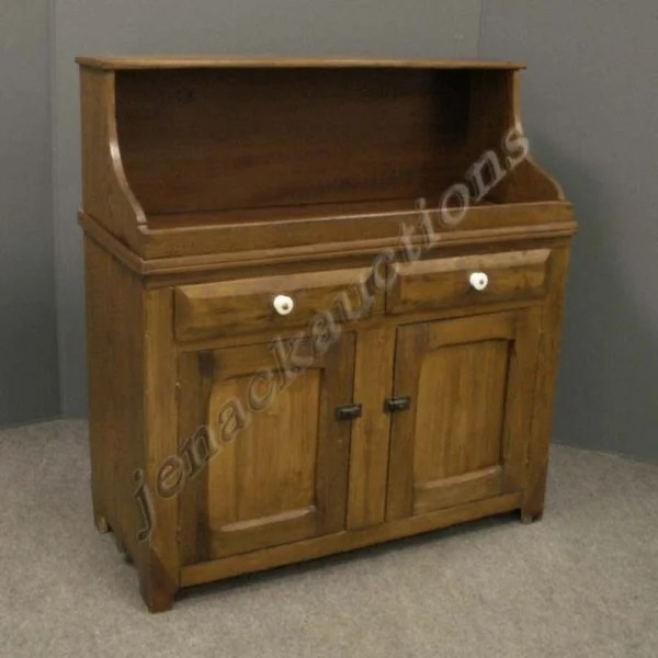 1167 Victorian Oak Pine Dry Sink Cabinet Lot 1167