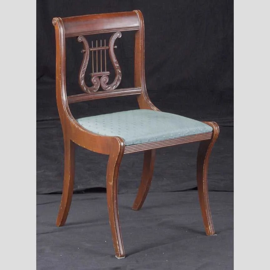 278 Duncan Phyfe Lyre Back Side Chair  Lot 278