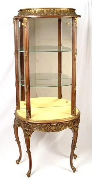 126 FRENCH GILT WOOD PERFUME CABINET  Lot 126