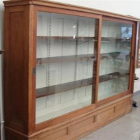 Outstanding Antique General Store Display Cabinet with