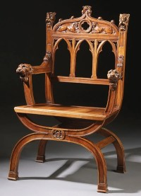 50: Furniture, Gothic Revival armchair : Lot 50