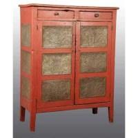 35: Wooden Primitive Pie Safe Cabinet. : Lot 35
