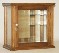 7: Small Glass & Wood Two-Shelf Display Case. : Lot 7