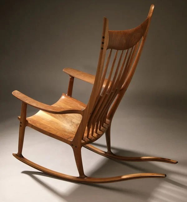 design within reach chair walnut ikea white wooden 1154: a sam maloof and ebony rocking : lot 1154