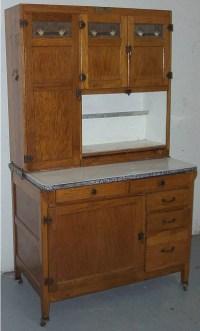 1173: McDougall Oak Hoosier Kitchen Cabinet : Lot 1173