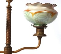 STEUBEN LAMP W/PULLED FEATHER SHADES : Lot 91