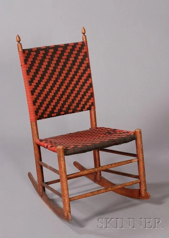 739 Shaker Production No 3 Armless Rocking Chair M