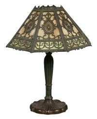 110: Early electric table lamp, Miller Lamp Co., 232 ML