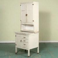 """1193: Unusual small early 1900 Hoosier cabinet, 27""""w, d ..."""