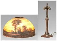 161: Handel lamp shade, base: : Lot 161