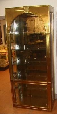 MASTERCRAFT Brass Arch Top Display Cabinet. Brass : Lot 185
