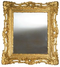 1236: Furniture, fancy Victorian mirror in wood frame ...
