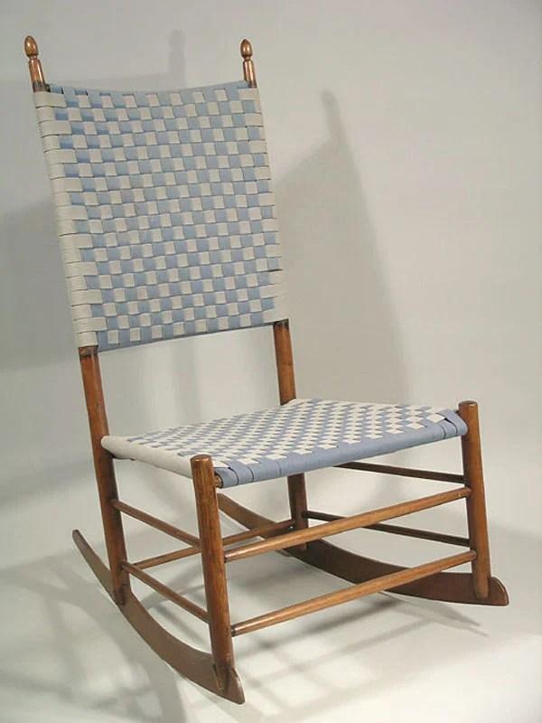 132 Shaker 6 Armless Rocking Chair  Lot 132
