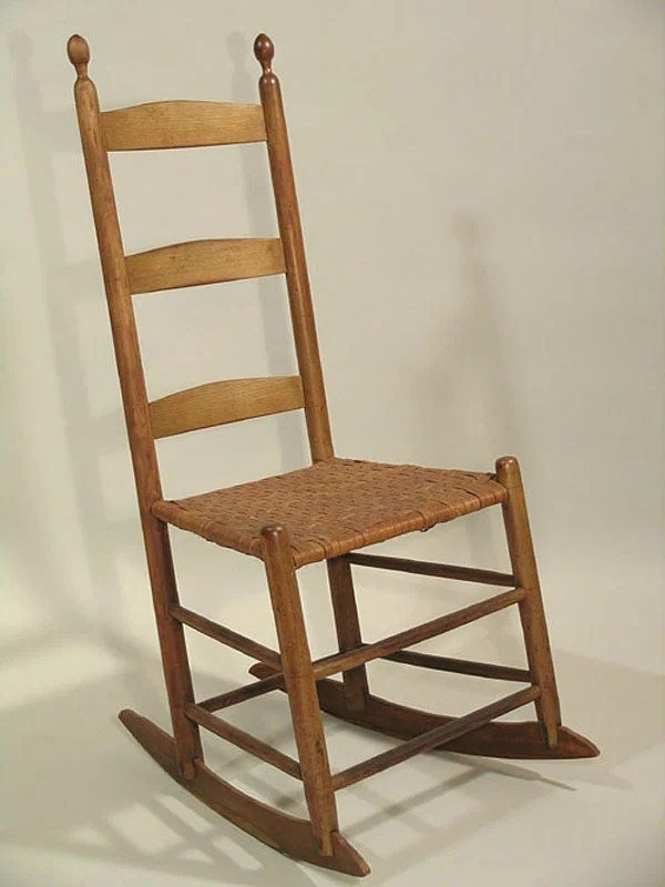 133 Shaker Armless Rocking Chair  Lot 133