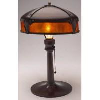 33: Roycroft lamp, hammered copper : Lot 33