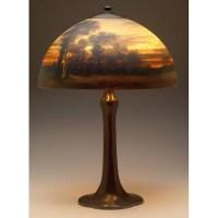 "238: Handel lamp, 16"" domicile shade : Lot 238"