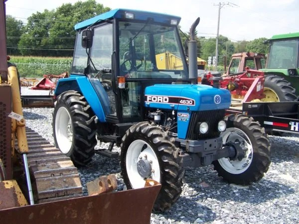 155 1995 ford 4630 4x4 farm tractor with cab lot 155