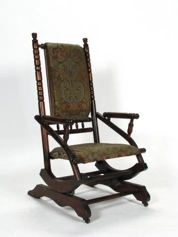 antique platform rocking chair with springs butterfly lounge www picturesso com lot jpg 360x480
