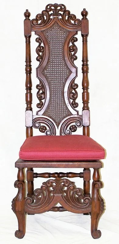 24 Single Mid 19th C Gothic Revival Bishops Chair