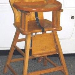 Vintage Wooden High Chair Foot Covers For Wood Floors 50: 1950s Baby W Decals : Lot 50