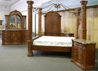 12: Aico Monte Carlo Pecan Finish King Bedroom Set : Lot 12