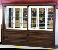 30: Antique General Store Display Cabinet : Lot 30