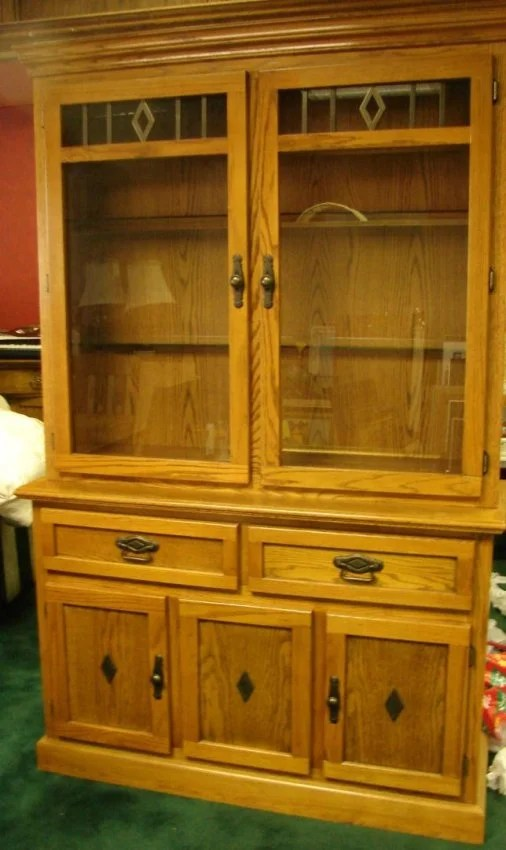 Mission Style China Hutch 48 x 76  Lot 150A