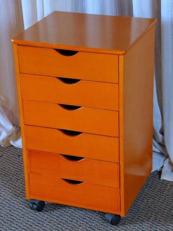 6Drawer Rolling Cabinet wShallow Drawers  Lot 437