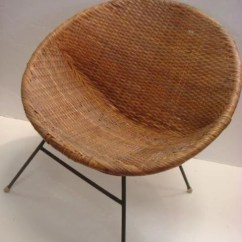 Papasan Chair Frame Metal Bistro Chairs Dining Table Mid Century Modern Wicker Hoop Chair: : Lot 105