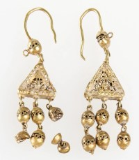 Gold, Afghanistan and Gold earrings on Pinterest