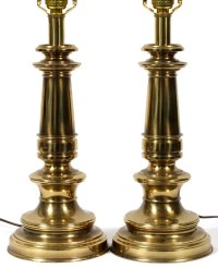 "STIFFEL BRASS TABLE LAMPS, PAIR, H 24"" : Lot 50123"