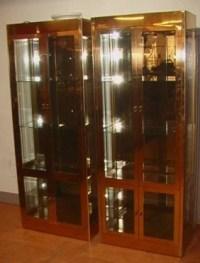 Pr Tall 4 Door MASTERCRAFT Brass Display Cabinet. : Lot 114