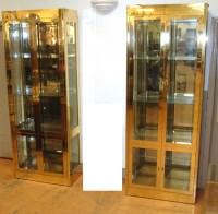 Pair Mastercraft Vitrine Display Cabinets. Mirro : Lot 137