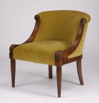 Contemporary Neoclassical tub chair : Lot 133