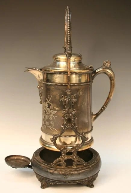 Victorian SilverPlated Tilting Water Pitcher 1902  Lot 632
