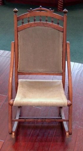 Antique Rocking Chair early 1800s or late 1700s  Lot 35