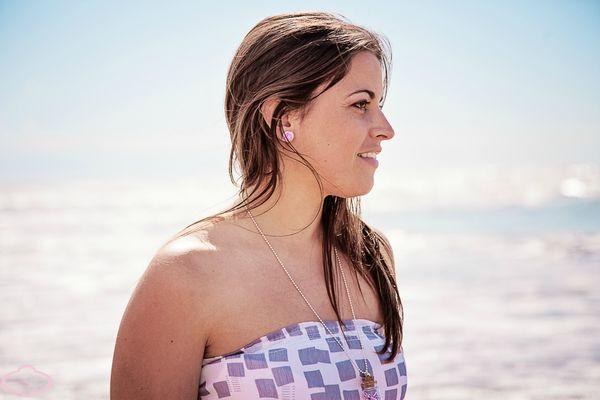 Bijoux gourmands Puces d'oreille Sucette violette