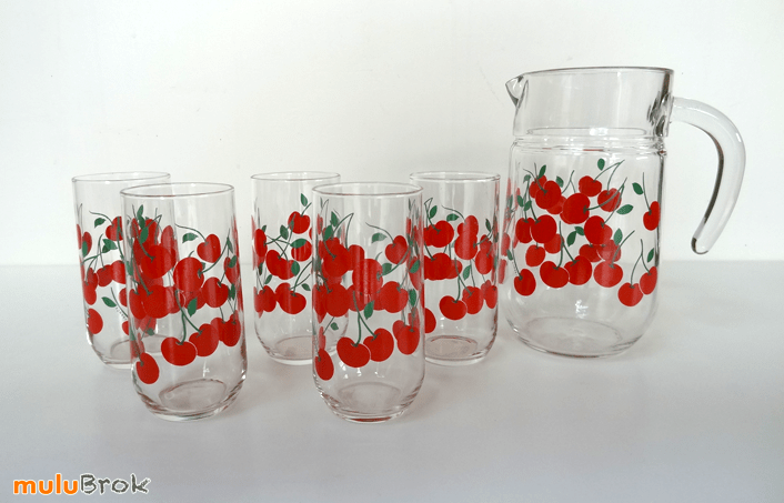 Vaisselle Vintage Service Jus De Fruits Dcor