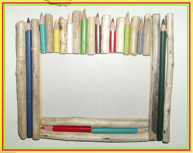 Cadre Bois Et Crayons De Couleur Les Crations En Bois