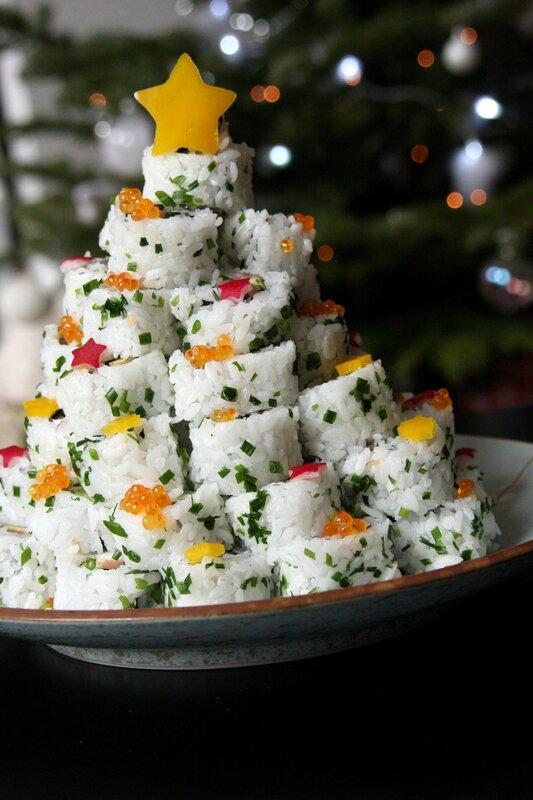 Sapin en sushi  Beau  la louche