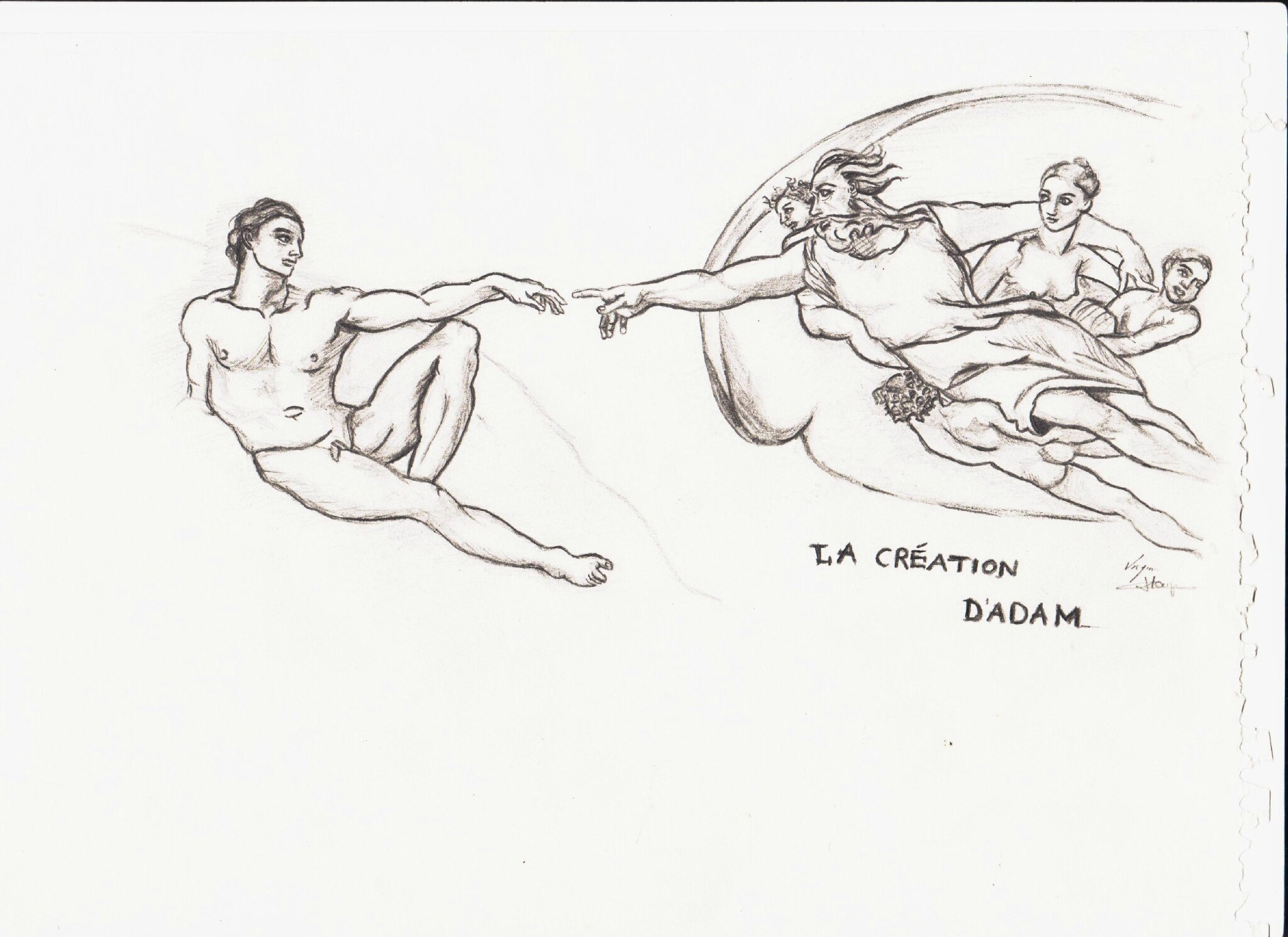 La Création D Adam Qui Trinque