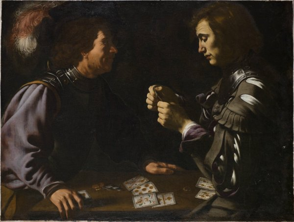 Caravaggio Card Players Paintings