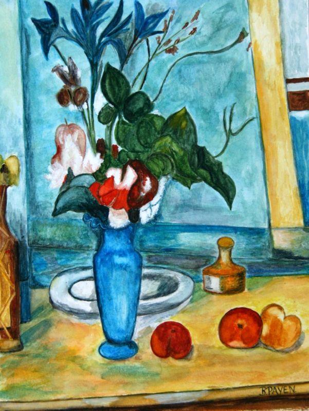 LE VASE BLEU DE PAUL CEZANNE  galerie de peinture