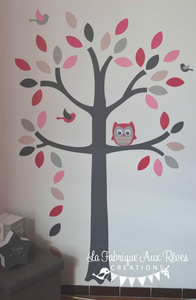 10 Stickers arbre hibou oiseaux toiles papillons  Album photos  Gigoteuse et tour de lit
