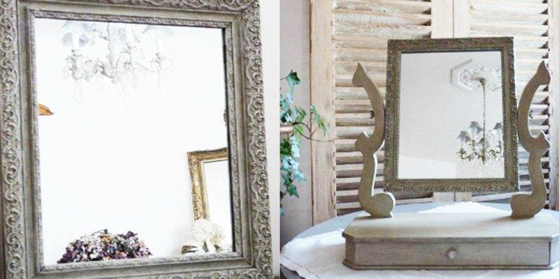 Je Bricole Restaurer Et Relooker Un Miroir Fait Maison