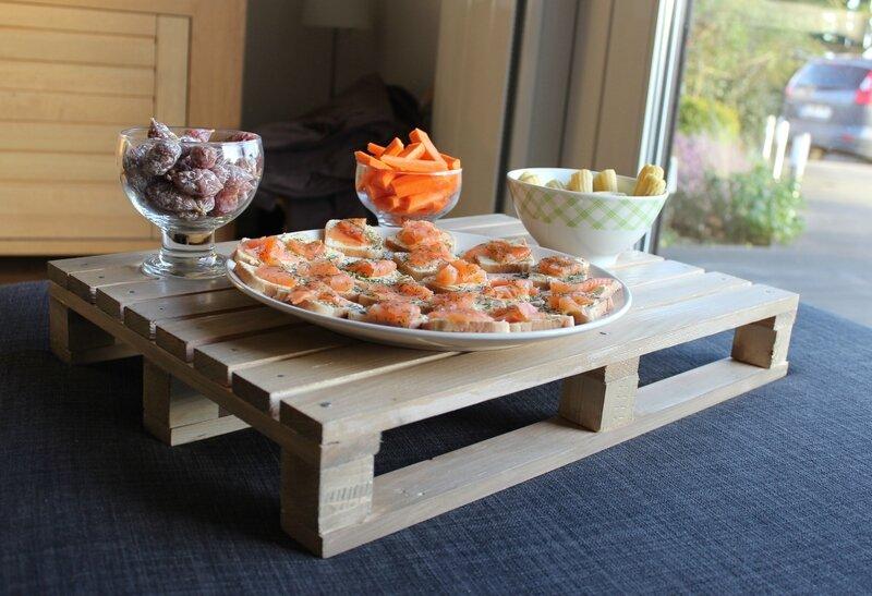 table de cuisine en palette