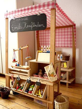 wood kitchen play set wall mounted cabinets envie de jouer à la marchande .... - chez valérie & francoise