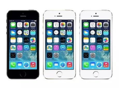 O atual top de linha da Apple, iPhone 5S, tem tela de 4 polegadas. Foto: Apple